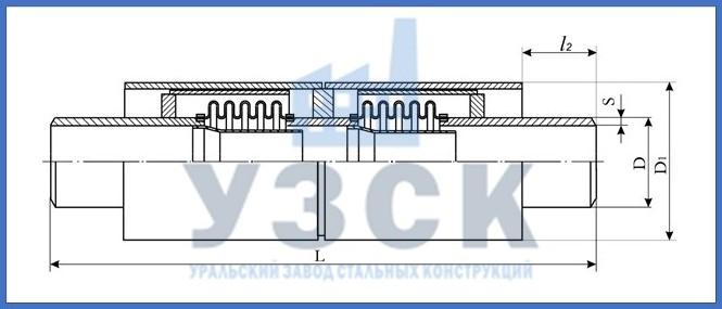 Чертёж компенсатора 2ОПМР в Екатеринбурге