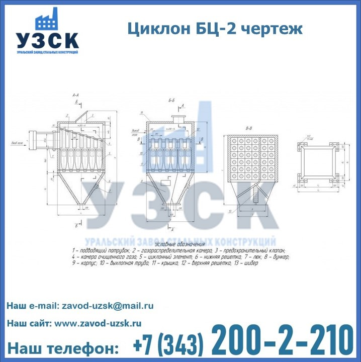 Циклоны батарейные БЦ-2 в Екатеринбурге