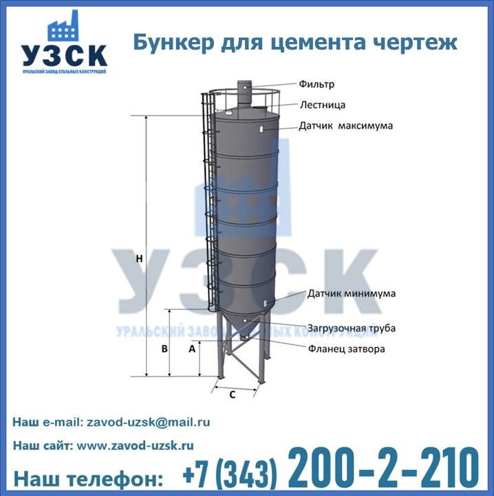 Цементный силос в Екатеринбурге