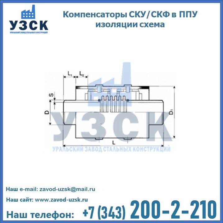 Компенсаторы СКУ в ППУ изоляции схема в Екатеринбурге