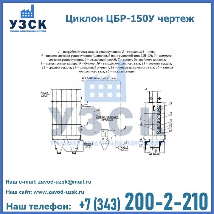 Циклон ЦБР-150У в Екатеринбурге